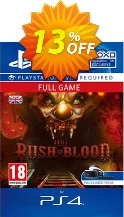 Until Dawn Rush of Blood VR PS4 Coupon discount Until Dawn Rush of Blood VR PS4 Deal - Until Dawn Rush of Blood VR PS4 Exclusive Easter Sale offer for iVoicesoft