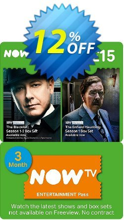 NOW TV - Entertainment 3 Month Pass Coupon discount NOW TV - Entertainment 3 Month Pass Deal - NOW TV - Entertainment 3 Month Pass Exclusive Easter Sale offer for iVoicesoft