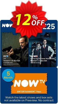 NOW TV - Entertainment 5 Month Pass Coupon discount NOW TV - Entertainment 5 Month Pass Deal - NOW TV - Entertainment 5 Month Pass Exclusive Easter Sale offer for iVoicesoft