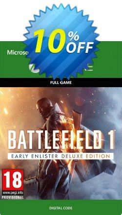 Battlefield 1 Early Enlister Deluxe Edition Xbox One Coupon discount Battlefield 1 Early Enlister Deluxe Edition Xbox One Deal - Battlefield 1 Early Enlister Deluxe Edition Xbox One Exclusive Easter Sale offer for iVoicesoft