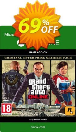 Grand Theft Auto - GTA V Criminal Enterprise Starter Pack DLC Xbox One Coupon discount Grand Theft Auto (GTA V) Criminal Enterprise Starter Pack DLC Xbox One Deal - Grand Theft Auto (GTA V) Criminal Enterprise Starter Pack DLC Xbox One Exclusive Easter Sale offer for iVoicesoft