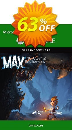 Max: The Curse of Brotherhood - Xbox One Digital Code Coupon discount Max: The Curse of Brotherhood - Xbox One Digital Code Deal - Max: The Curse of Brotherhood - Xbox One Digital Code Exclusive Easter Sale offer for iVoicesoft