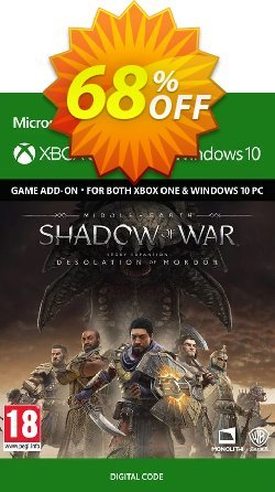 Middle-Earth Shadow of War - The Desolation of Mordor Expansion Xbox One/PC Coupon discount Middle-Earth Shadow of War - The Desolation of Mordor Expansion Xbox One/PC Deal - Middle-Earth Shadow of War - The Desolation of Mordor Expansion Xbox One/PC Exclusive Easter Sale offer for iVoicesoft