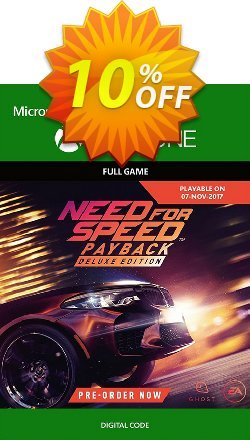 Need for Speed Payback Deluxe Edition Xbox One Coupon discount Need for Speed Payback Deluxe Edition Xbox One Deal - Need for Speed Payback Deluxe Edition Xbox One Exclusive Easter Sale offer for iVoicesoft