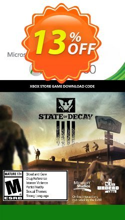 State of Decay Xbox 360 Coupon discount State of Decay Xbox 360 Deal - State of Decay Xbox 360 Exclusive Easter Sale offer for iVoicesoft