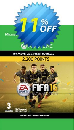 Fifa 16 - 2200 FUT Points - Xbox One  Coupon discount Fifa 16 - 2200 FUT Points (Xbox One) Deal - Fifa 16 - 2200 FUT Points (Xbox One) Exclusive Easter Sale offer for iVoicesoft