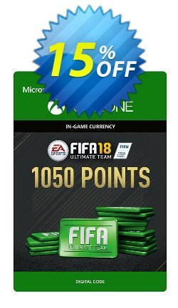 Fifa 18 - 1050 FUT Points - Xbox One  Coupon discount Fifa 18 - 1050 FUT Points (Xbox One) Deal. Promotion: Fifa 18 - 1050 FUT Points (Xbox One) Exclusive Easter Sale offer for iVoicesoft