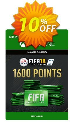 Fifa 18 - 1600 FUT Points - Xbox One  Coupon discount Fifa 18 - 1600 FUT Points (Xbox One) Deal - Fifa 18 - 1600 FUT Points (Xbox One) Exclusive Easter Sale offer for iVoicesoft