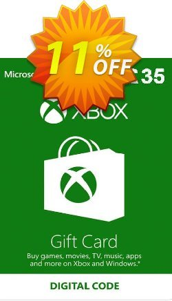 Microsoft Gift Card - £35 - Xbox One/360  Coupon discount Microsoft Gift Card - £35 (Xbox One/360) Deal - Microsoft Gift Card - £35 (Xbox One/360) Exclusive Easter Sale offer for iVoicesoft
