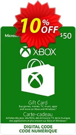 Microsoft Gift Card - CAD $50 - Xbox One/360  Coupon discount Microsoft Gift Card - CAD $50 (Xbox One/360) Deal - Microsoft Gift Card - CAD $50 (Xbox One/360) Exclusive Easter Sale offer for iVoicesoft