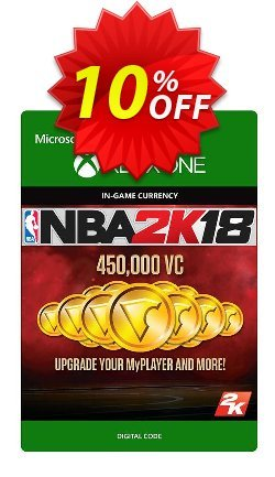 NBA 2K18 450,000 VC - Xbox One  Coupon discount NBA 2K18 450,000 VC (Xbox One) Deal - NBA 2K18 450,000 VC (Xbox One) Exclusive Easter Sale offer for iVoicesoft