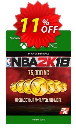NBA 2K18 75,000 VC - Xbox One  Coupon discount NBA 2K18 75,000 VC (Xbox One) Deal - NBA 2K18 75,000 VC (Xbox One) Exclusive Easter Sale offer for iVoicesoft