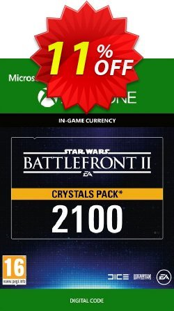 Star Wars Battlefront 2: 2100 Crystals Xbox One Coupon discount Star Wars Battlefront 2: 2100 Crystals Xbox One Deal - Star Wars Battlefront 2: 2100 Crystals Xbox One Exclusive Easter Sale offer for iVoicesoft