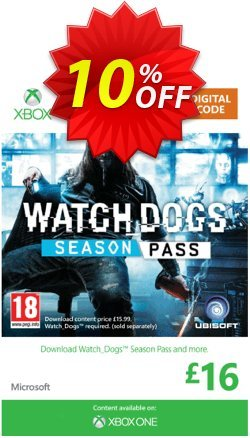 Watch Dogs: Season Pass - Xbox One/360  Coupon discount Watch Dogs: Season Pass (Xbox One/360) Deal - Watch Dogs: Season Pass (Xbox One/360) Exclusive Easter Sale offer for iVoicesoft