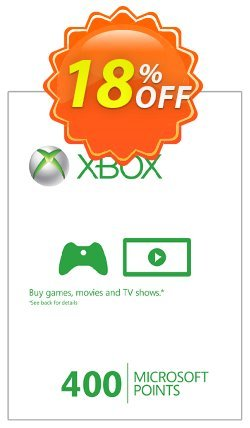 Xbox Live 400 Microsoft Points - Xbox 360  Coupon discount Xbox Live 400 Microsoft Points (Xbox 360) Deal - Xbox Live 400 Microsoft Points (Xbox 360) Exclusive Easter Sale offer for iVoicesoft