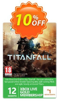 12 + 1 Month Xbox Live Gold Membership - Titanfall Branded - Xbox One/360  Coupon discount 12 + 1 Month Xbox Live Gold Membership - Titanfall Branded (Xbox One/360) Deal - 12 + 1 Month Xbox Live Gold Membership - Titanfall Branded (Xbox One/360) Exclusive Easter Sale offer for iVoicesoft