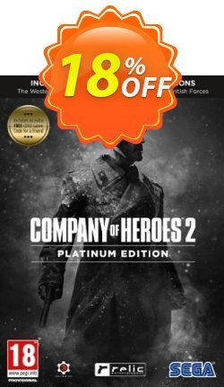 Company of Heroes 2 Platinum Edition PC Coupon discount Company of Heroes 2 Platinum Edition PC Deal. Promotion: Company of Heroes 2 Platinum Edition PC Exclusive offer for iVoicesoft