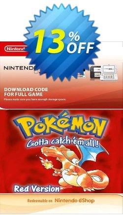 Pokemon Red Edition - Spain 3DS Coupon discount Pokemon Red Edition (Spain) 3DS Deal 2021 CDkeys - Pokemon Red Edition (Spain) 3DS Exclusive Sale offer for iVoicesoft