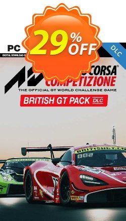 Assetto Corsa Competizione - British GT Pack PC - DLC Coupon discount Assetto Corsa Competizione - British GT Pack PC - DLC Deal 2021 CDkeys - Assetto Corsa Competizione - British GT Pack PC - DLC Exclusive Sale offer for iVoicesoft