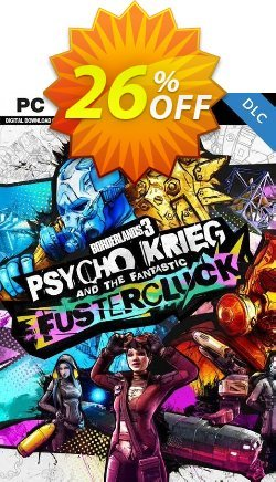 Borderlands 3: Psycho Krieg and the Fantastic Fustercluck PC - DLC - Steam  Coupon discount Borderlands 3: Psycho Krieg and the Fantastic Fustercluck PC - DLC (Steam) Deal 2021 CDkeys - Borderlands 3: Psycho Krieg and the Fantastic Fustercluck PC - DLC (Steam) Exclusive Sale offer for iVoicesoft