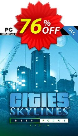 Cities Skyline PC - Deep Focus Radio DLC Coupon discount Cities Skyline PC - Deep Focus Radio DLC Deal 2021 CDkeys - Cities Skyline PC - Deep Focus Radio DLC Exclusive Sale offer for iVoicesoft