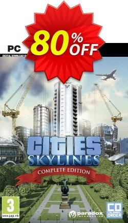 Cities: Skylines Complete Edition PC Coupon discount Cities: Skylines Complete Edition PC Deal 2021 CDkeys - Cities: Skylines Complete Edition PC Exclusive Sale offer for iVoicesoft