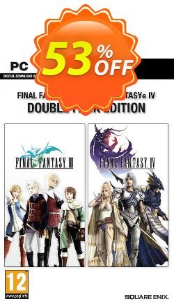 Final Fantasy III + IV Double Pack PC Coupon discount Final Fantasy III + IV Double Pack PC Deal 2021 CDkeys - Final Fantasy III + IV Double Pack PC Exclusive Sale offer for iVoicesoft