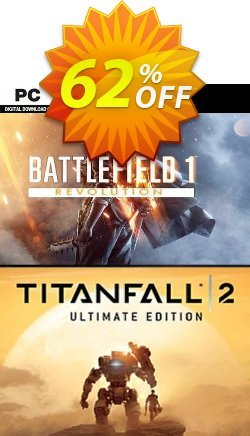 Battlefield 1 Revolution and Titanfall 2 Ultimate Edition Bundle PC Coupon discount Battlefield 1 Revolution and Titanfall 2 Ultimate Edition Bundle PC Deal 2021 CDkeys - Battlefield 1 Revolution and Titanfall 2 Ultimate Edition Bundle PC Exclusive Sale offer for iVoicesoft