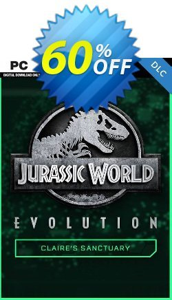 Jurassic World Evolution PC: Claire's Sanctuary DLC Coupon discount Jurassic World Evolution PC: Claire's Sanctuary DLC Deal 2021 CDkeys - Jurassic World Evolution PC: Claire's Sanctuary DLC Exclusive Sale offer for iVoicesoft