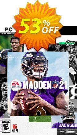 Madden NFL 21 PC Coupon discount Madden NFL 21 PC Deal 2021 CDkeys - Madden NFL 21 PC Exclusive Sale offer for iVoicesoft