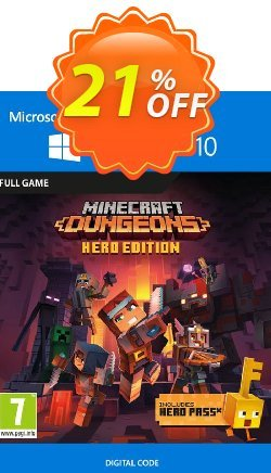Minecraft Dungeons: Hero Edition - Windows 10 PC - UK  Coupon discount Minecraft Dungeons: Hero Edition - Windows 10 PC (UK) Deal 2021 CDkeys - Minecraft Dungeons: Hero Edition - Windows 10 PC (UK) Exclusive Sale offer for iVoicesoft