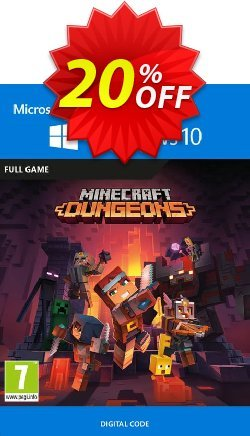 Minecraft Dungeons - Windows 10 PC - UK  Coupon discount Minecraft Dungeons - Windows 10 PC (UK) Deal 2021 CDkeys - Minecraft Dungeons - Windows 10 PC (UK) Exclusive Sale offer for iVoicesoft