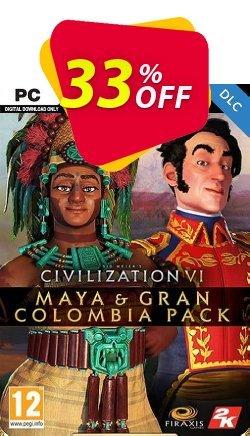 Sid Meier's Civilization VI - Maya & Gran Colombia Pack PC - DLC Coupon discount Sid Meier's Civilization VI - Maya & Gran Colombia Pack PC - DLC Deal 2021 CDkeys - Sid Meier's Civilization VI - Maya & Gran Colombia Pack PC - DLC Exclusive Sale offer for iVoicesoft