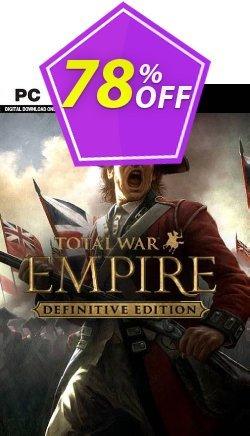 Total War: Empire - Definitive Edition PC - EU  Coupon discount Total War: Empire - Definitive Edition PC (EU) Deal 2021 CDkeys - Total War: Empire - Definitive Edition PC (EU) Exclusive Sale offer for iVoicesoft