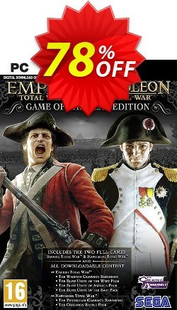 Total War: Empire & Napoleon GOTY PC - EU  Coupon discount Total War: Empire & Napoleon GOTY PC (EU) Deal 2021 CDkeys - Total War: Empire & Napoleon GOTY PC (EU) Exclusive Sale offer for iVoicesoft