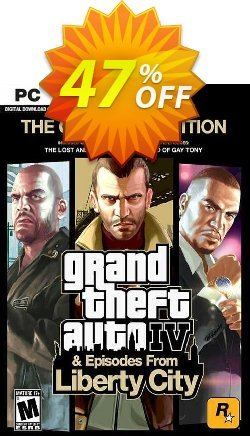 Grand Theft Auto IV: The Complete Edition PC - Rockstar  Coupon discount Grand Theft Auto IV: The Complete Edition PC (Rockstar) Deal 2021 CDkeys - Grand Theft Auto IV: The Complete Edition PC (Rockstar) Exclusive Sale offer for iVoicesoft