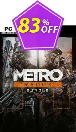 Metro Redux Bundle PC - EU  Coupon discount Metro Redux Bundle PC (EU) Deal 2021 CDkeys - Metro Redux Bundle PC (EU) Exclusive Sale offer for iVoicesoft