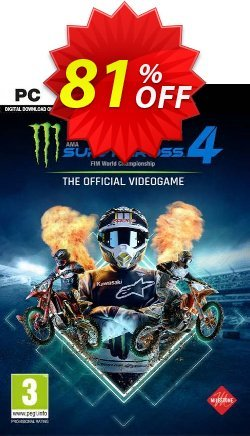 Monster Energy Supercross: The Official Videogame 4 PC Coupon discount Monster Energy Supercross: The Official Videogame 4 PC Deal 2021 CDkeys - Monster Energy Supercross: The Official Videogame 4 PC Exclusive Sale offer for iVoicesoft