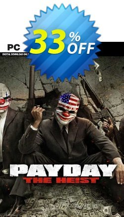 Payday The Heist PC Coupon discount Payday The Heist PC Deal 2021 CDkeys - Payday The Heist PC Exclusive Sale offer for iVoicesoft