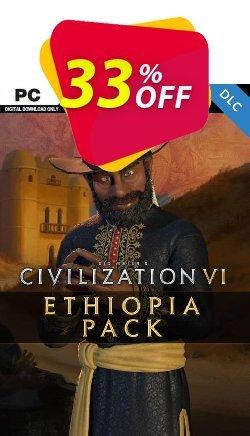 Sid Meier's Civilization VI - Ethiopia Pack PC - DLC Coupon discount Sid Meier's Civilization VI - Ethiopia Pack PC - DLC Deal 2021 CDkeys - Sid Meier's Civilization VI - Ethiopia Pack PC - DLC Exclusive Sale offer for iVoicesoft