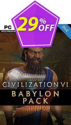 Sid Meier's Civilization VI: Babylon Pack PC - DLC - EU  Coupon discount Sid Meier's Civilization VI: Babylon Pack PC - DLC (EU) Deal 2021 CDkeys - Sid Meier's Civilization VI: Babylon Pack PC - DLC (EU) Exclusive Sale offer for iVoicesoft