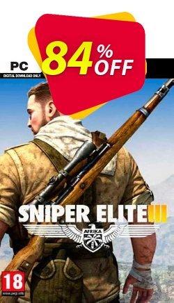 Sniper Elite 3 PC - EU  Coupon discount Sniper Elite 3 PC (EU) Deal 2021 CDkeys - Sniper Elite 3 PC (EU) Exclusive Sale offer for iVoicesoft