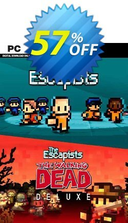 The Escapists + The Escapists: The Walking Dead Deluxe PC Coupon discount The Escapists + The Escapists: The Walking Dead Deluxe PC Deal 2021 CDkeys - The Escapists + The Escapists: The Walking Dead Deluxe PC Exclusive Sale offer for iVoicesoft