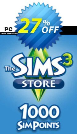 The Sims 3 - 1000 SimPoints PC Coupon discount The Sims 3 - 1000 SimPoints PC Deal 2021 CDkeys - The Sims 3 - 1000 SimPoints PC Exclusive Sale offer for iVoicesoft