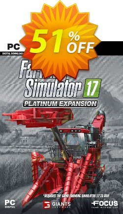 Farming Simulator 17 - Platinum Expansion PC Coupon discount Farming Simulator 17 - Platinum Expansion PC Deal 2021 CDkeys - Farming Simulator 17 - Platinum Expansion PC Exclusive Sale offer for iVoicesoft