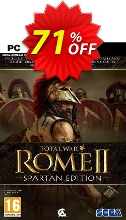 Total War Rome II - Spartan Edition PC - EU  Coupon discount Total War Rome II - Spartan Edition PC (EU) Deal 2021 CDkeys - Total War Rome II - Spartan Edition PC (EU) Exclusive Sale offer for iVoicesoft