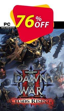Warhammer 40,000 Dawn of War II Chaos Rising PC - EU  Coupon discount Warhammer 40,000 Dawn of War II Chaos Rising PC (EU) Deal 2021 CDkeys - Warhammer 40,000 Dawn of War II Chaos Rising PC (EU) Exclusive Sale offer for iVoicesoft