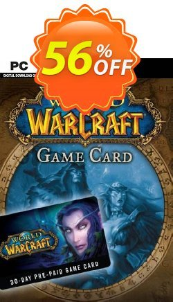 World of Warcraft 30 Day Pre-Paid Game Card PC/Mac - US  Coupon discount World of Warcraft 30 Day Pre-Paid Game Card PC/Mac (US) Deal 2021 CDkeys - World of Warcraft 30 Day Pre-Paid Game Card PC/Mac (US) Exclusive Sale offer for iVoicesoft