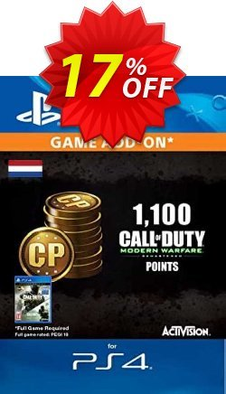 Call of Duty Modern Warfare - 1100 Points PS4 - Netherlands  Coupon discount Call of Duty Modern Warfare - 1100 Points PS4 (Netherlands) Deal 2021 CDkeys - Call of Duty Modern Warfare - 1100 Points PS4 (Netherlands) Exclusive Sale offer for iVoicesoft