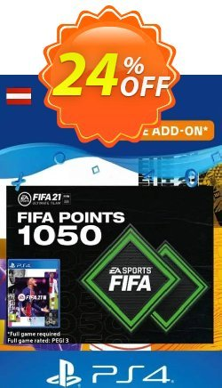FIFA 21 Ultimate Team 1050 Points Pack PS4/PS5 - Austria  Coupon discount FIFA 21 Ultimate Team 1050 Points Pack PS4/PS5 (Austria) Deal 2021 CDkeys - FIFA 21 Ultimate Team 1050 Points Pack PS4/PS5 (Austria) Exclusive Sale offer for iVoicesoft